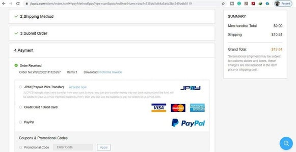 Select Shipping Address and Payment Mode