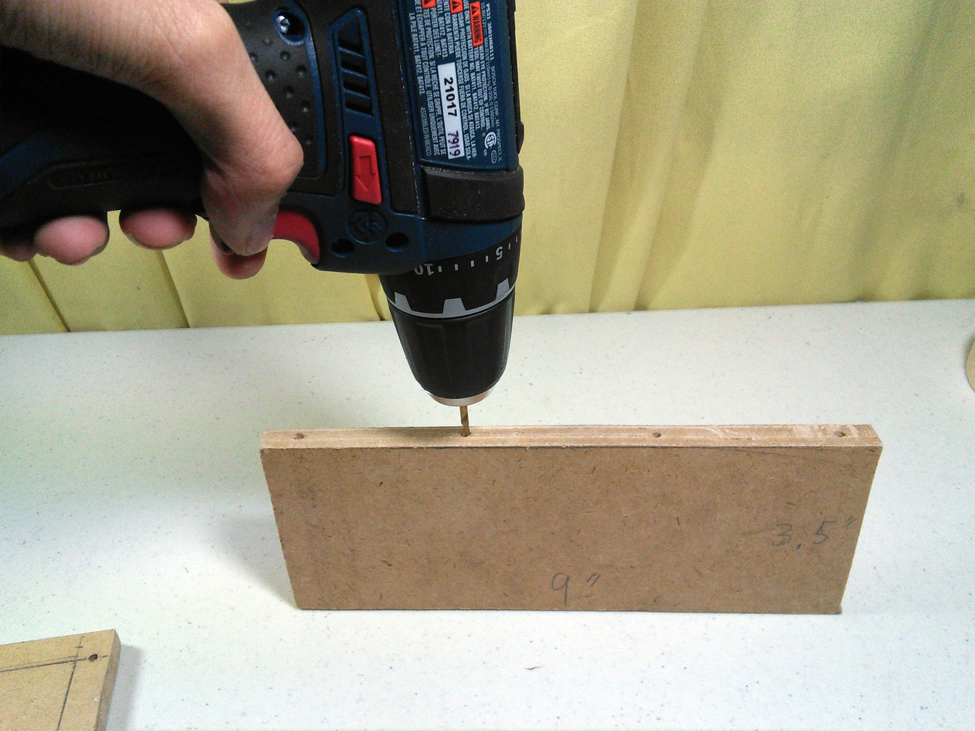 Drilling Holes for the Screw