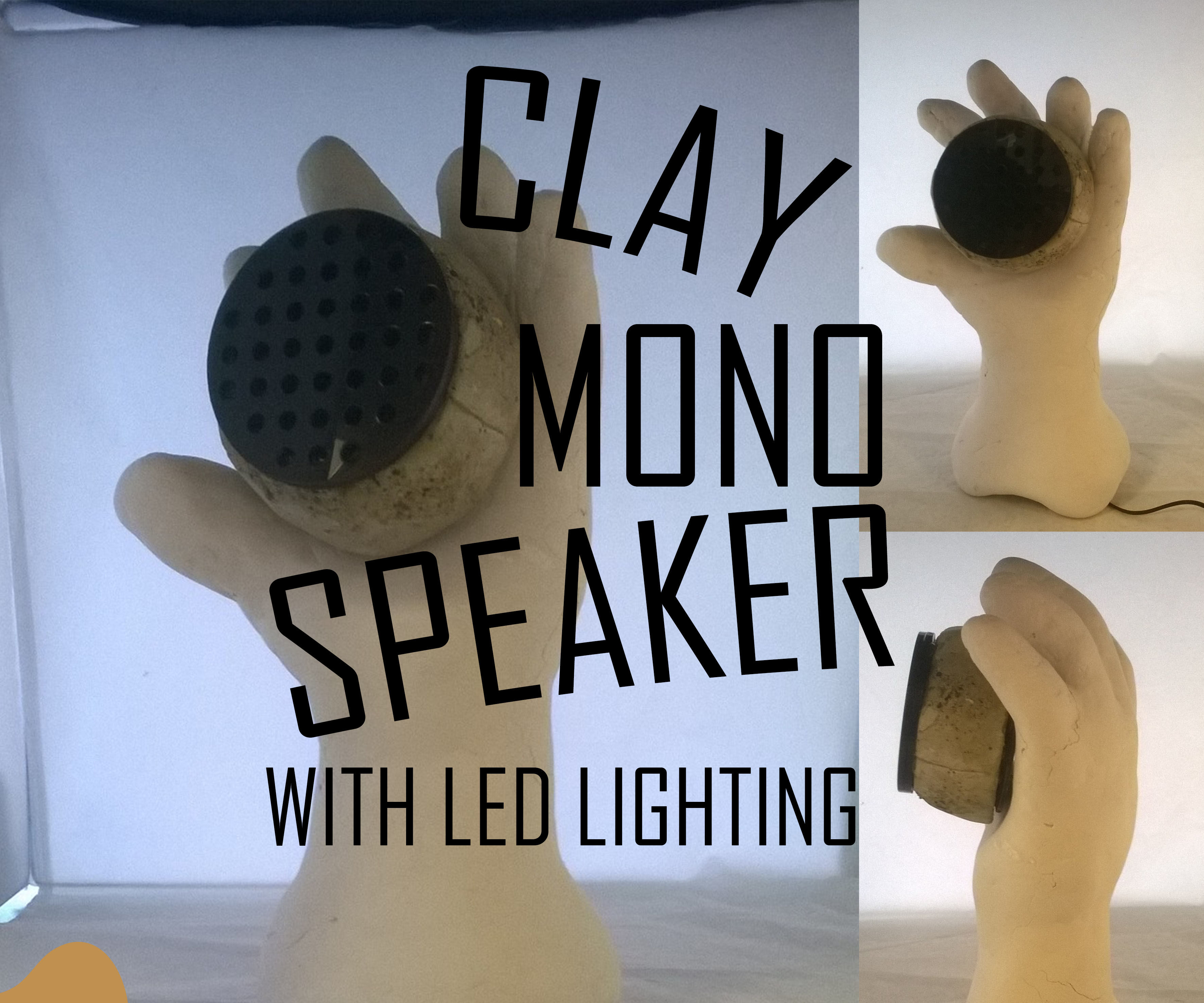 Clay Mono Speaker And LED Light