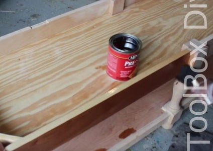 CONDITION AND STAIN THE BENCH.