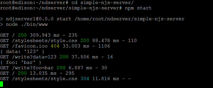 Run Node.js Web Server