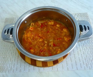 Traditional Cooking: Yellow Onion  With Chicken Dish