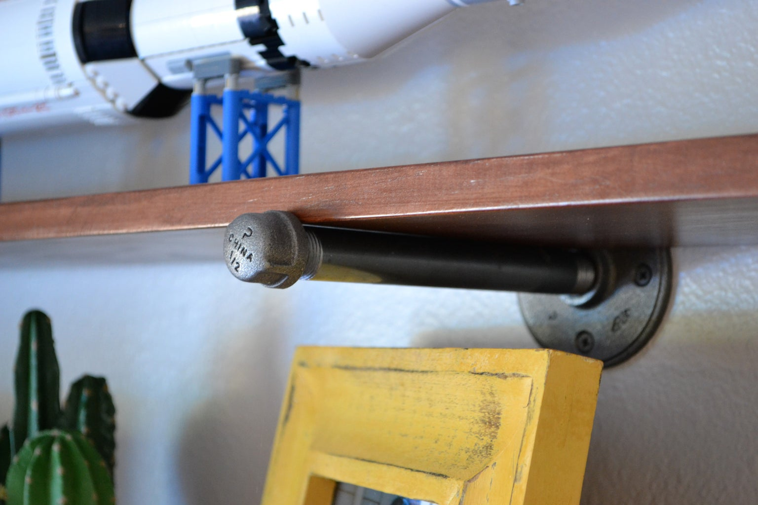 Industrial-Style Pipe Wall Shelves