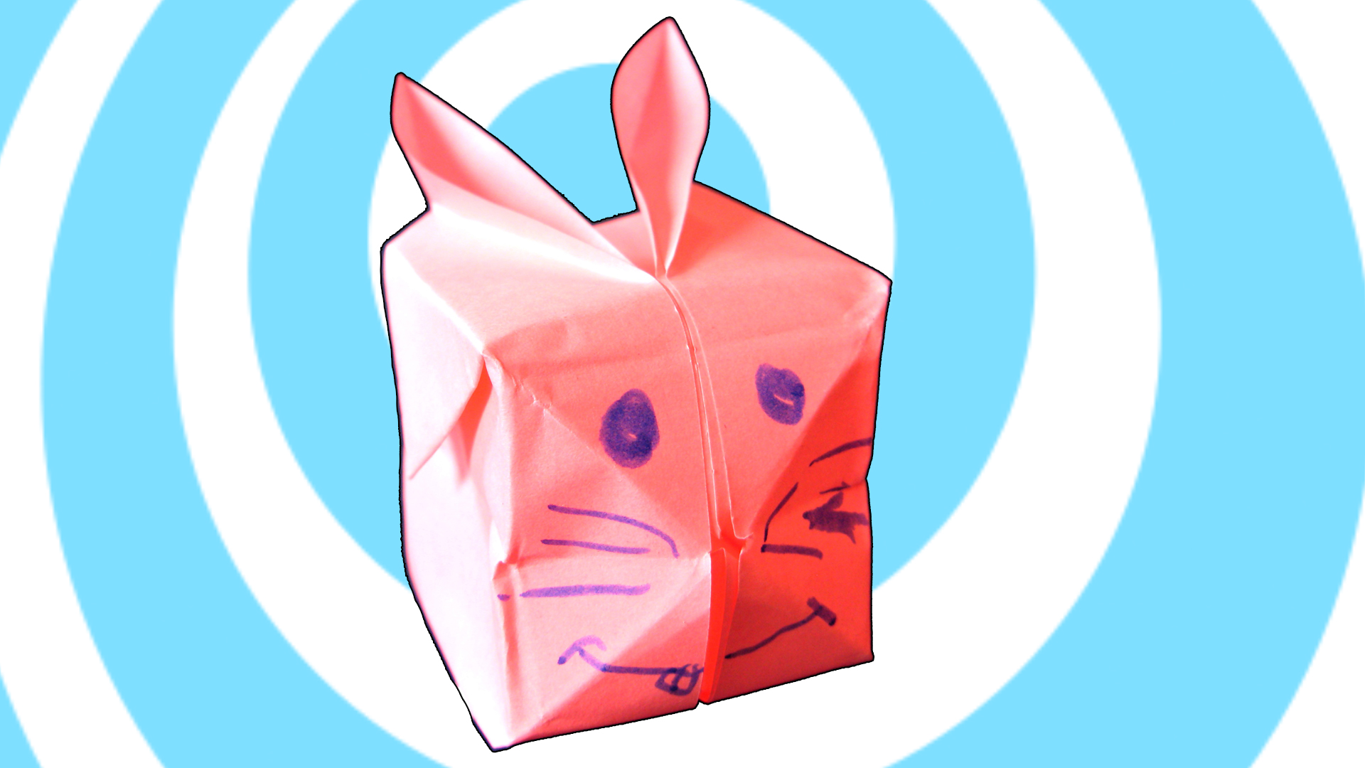 Origami Balloon Rabbit / Bunny