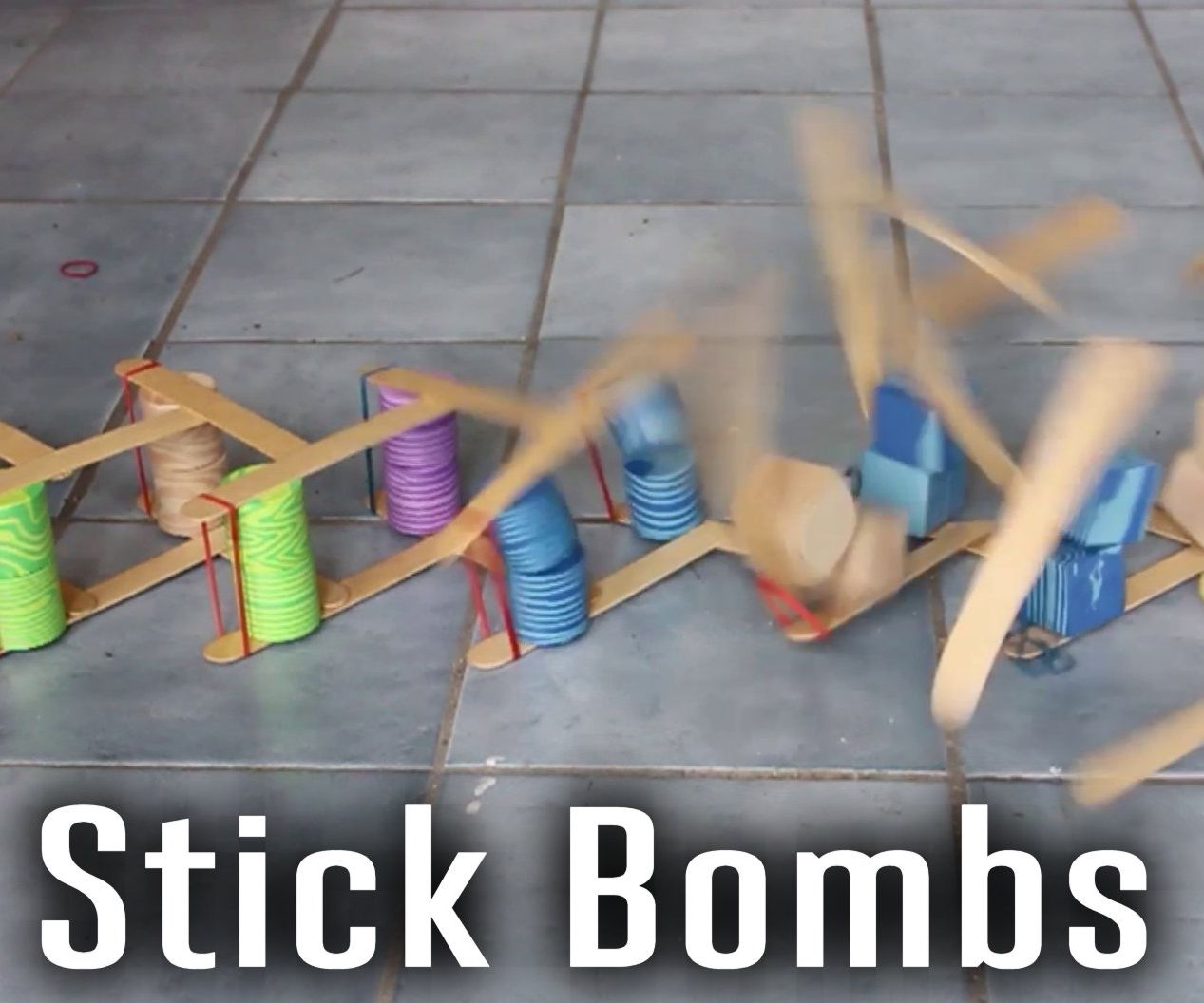 Stick Bombs (Exploding Kinetic Art)