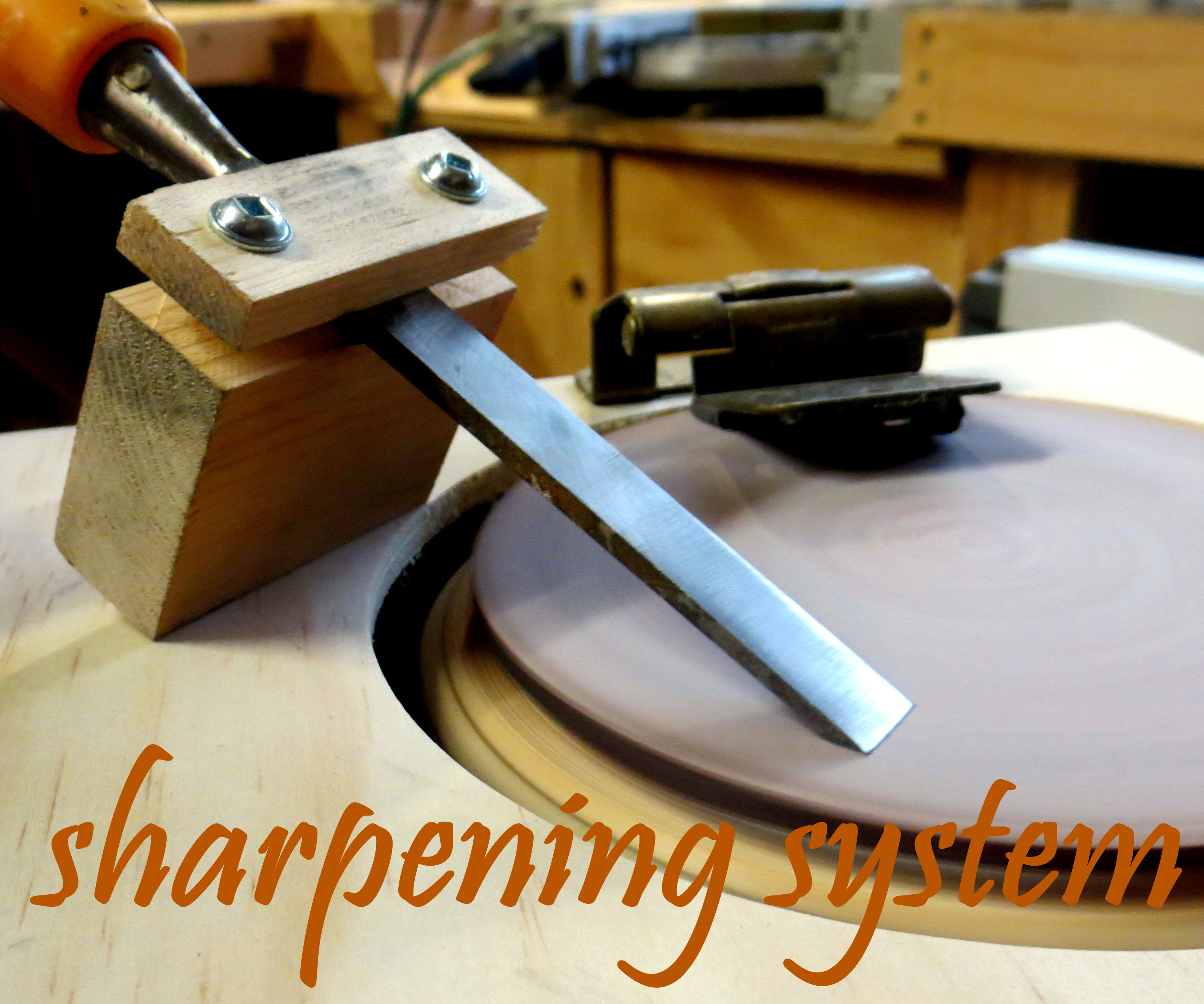 DIY sharpening system from a broken breadmaker