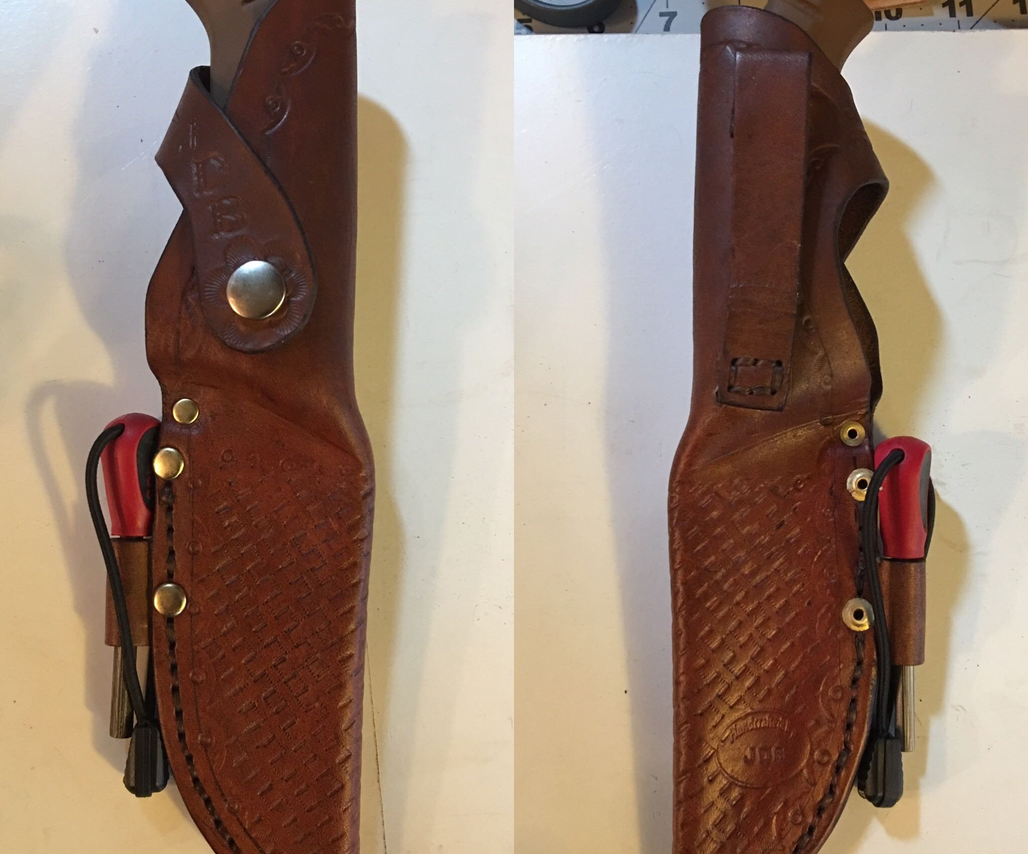 Leather knife sheath