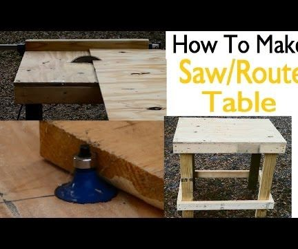 How to Build a Saw/Router Table