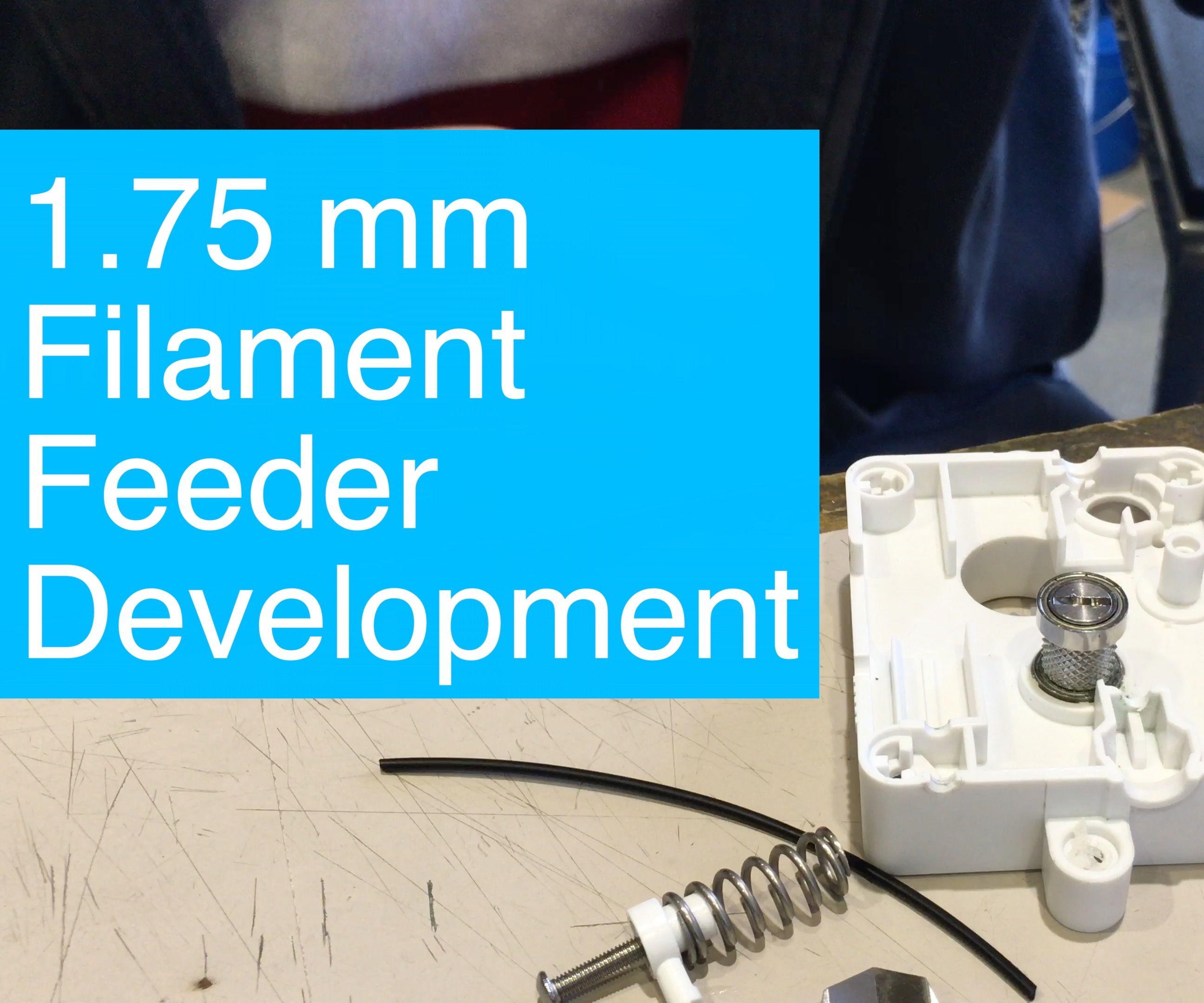 Ultimaker 2, 1.75mm conductive filament feeder arm design