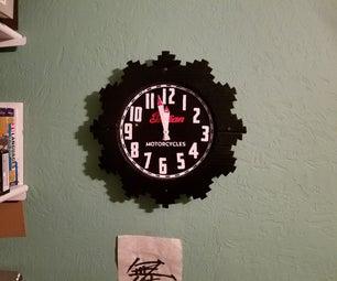 Retro Motorcycle Tachometer Wall Clock