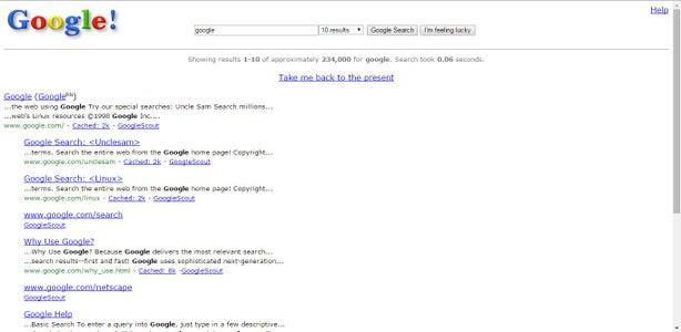 """""""Google in 1998"""""""