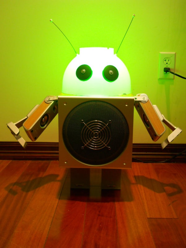 Make a Robot Lamp (using Discarded Speakers and a Colander)