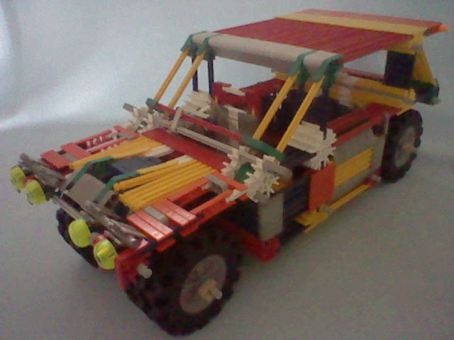knex Lancia Delta Rally car