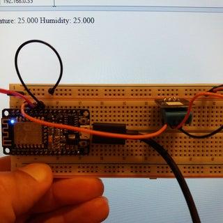 ESP8266 and Visuino: DHT11 Temperature and Humidity Web Server