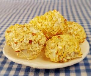 微型椰子杏仁饼 - 粘土!