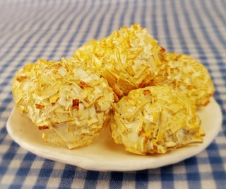 Miniature Coconut Macaroons—Out of CLAY!