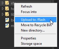 Uploading System Files