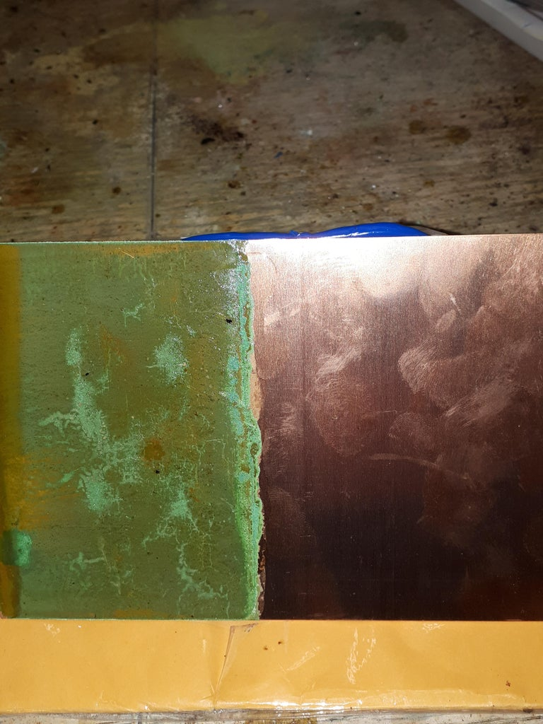 Coating the Metal Partly After Drying With Urethane Clear Laquer.
