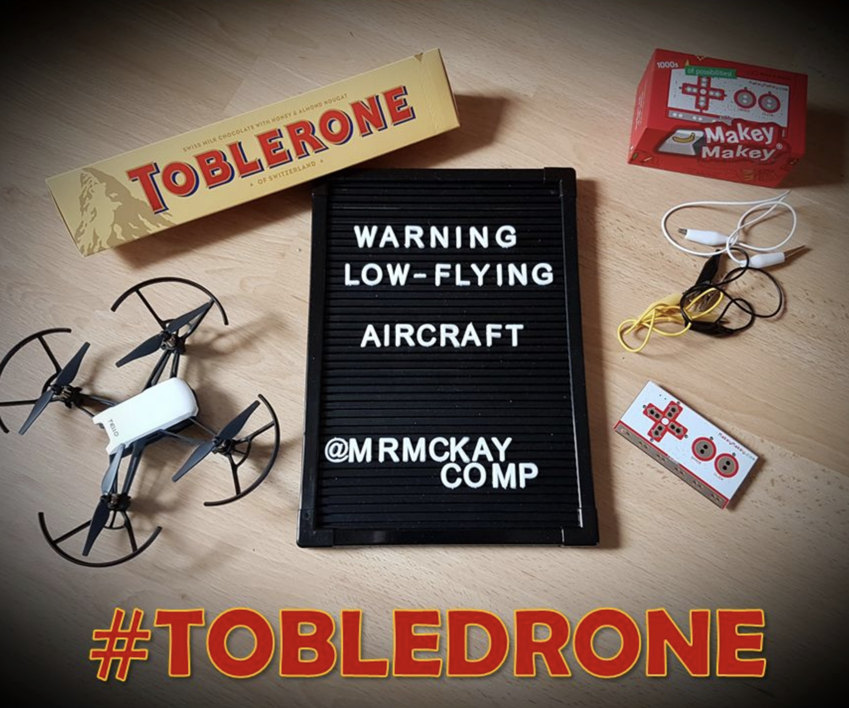 Tobledrone - Edible Chocolate Drone Controller