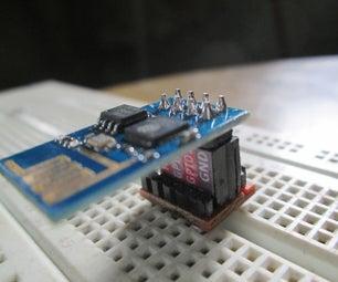 Sleek ESP8266 Breadboard Adapter With Pin LABEL