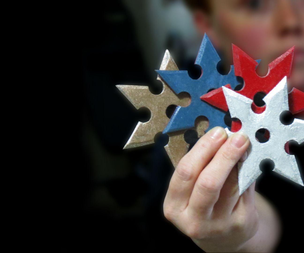 Paper Throwing Stars - Laminated Paper (Micarta)