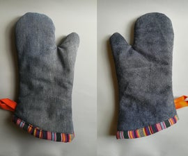 Oven Mitt From Recycled Materials