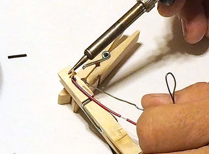 Solder the Wires and Clip the Nails