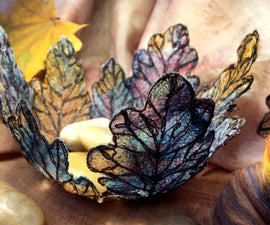 DIY Fibre Leaf Bowls