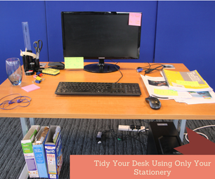 Tidy Your Desk Using Only Your Stationery