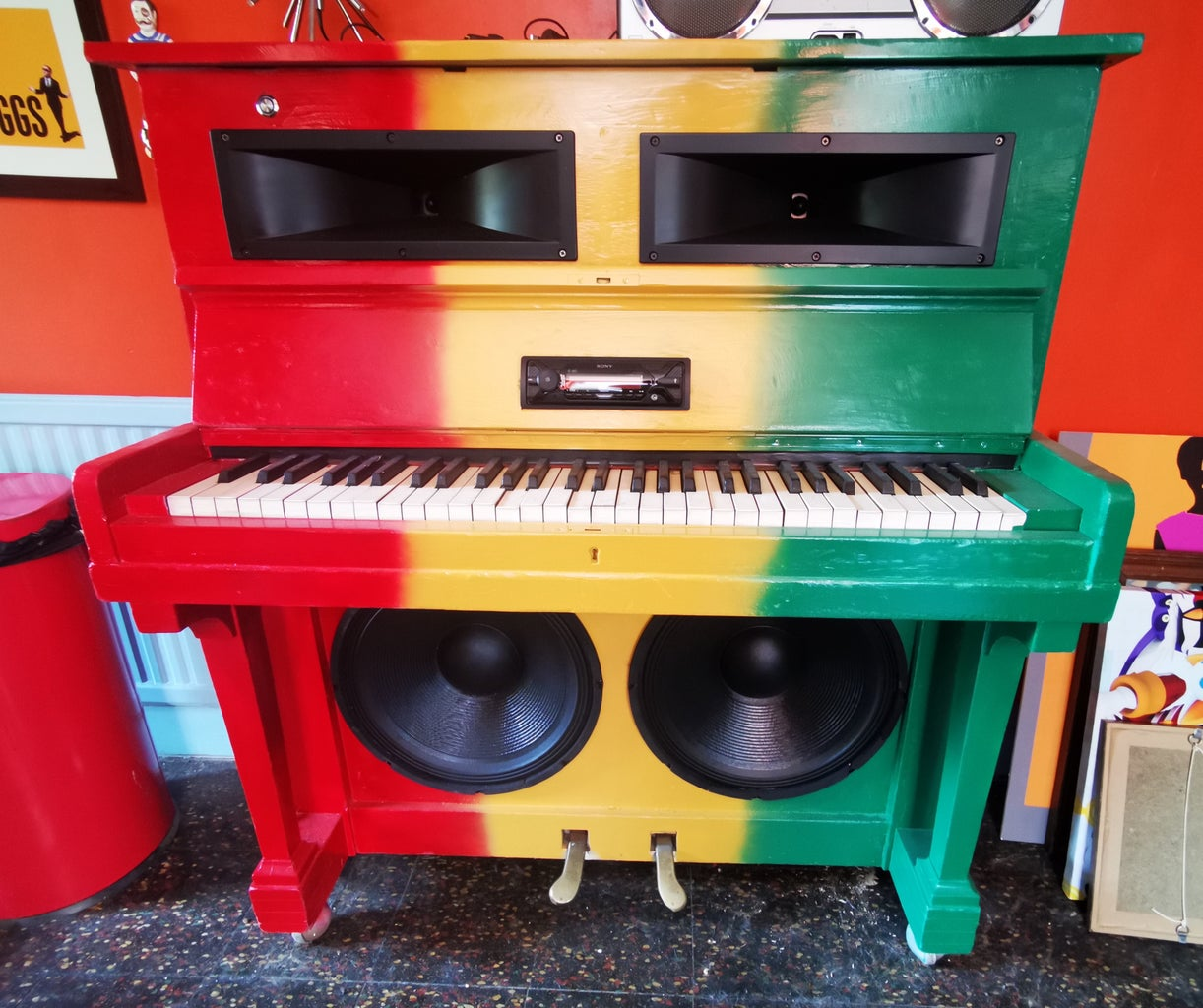Piano Blaster (Piano to Bluetooth Soundsystem Conversion)