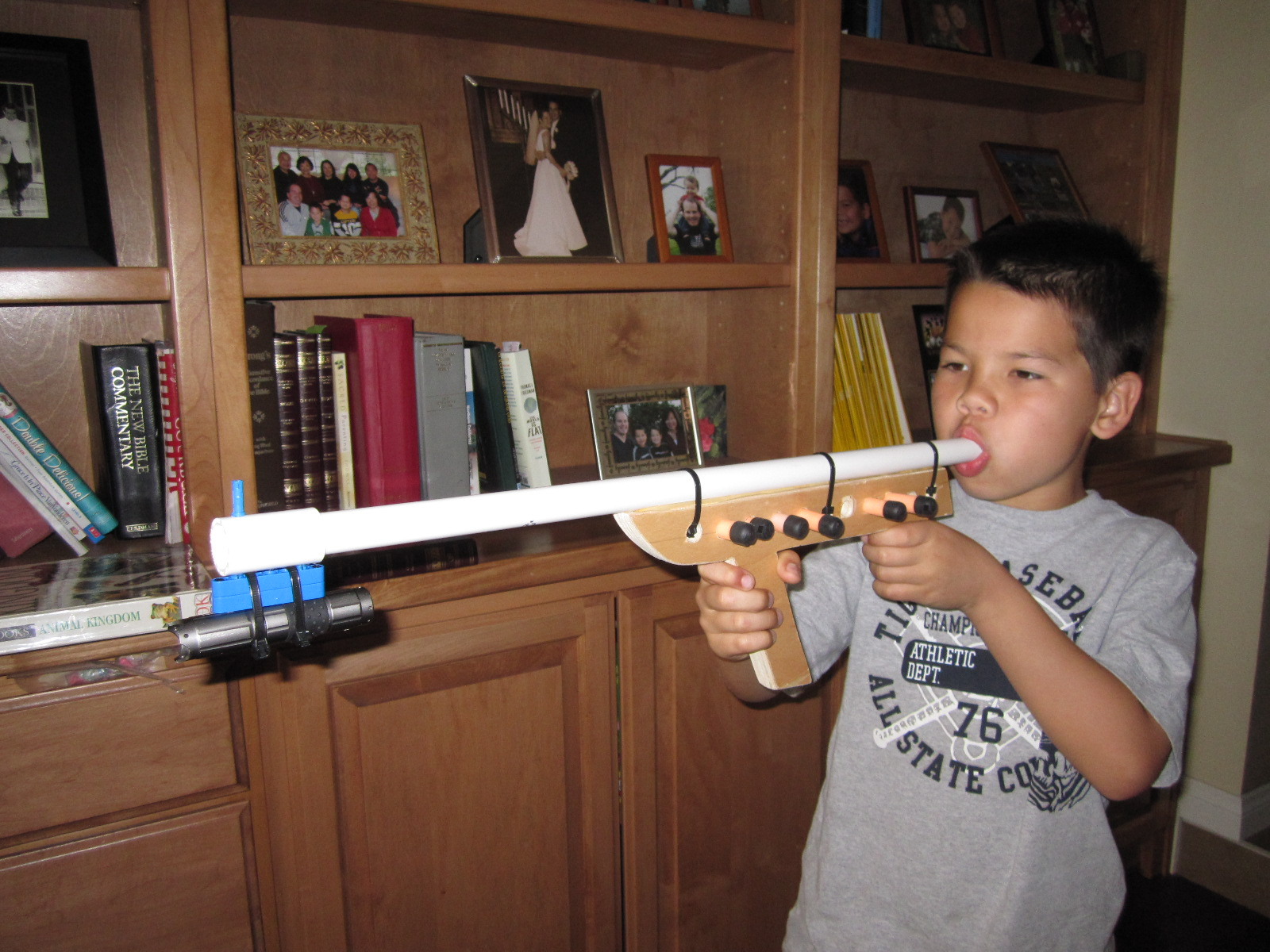 Easy Nerf Blow Gun for Hero Dads