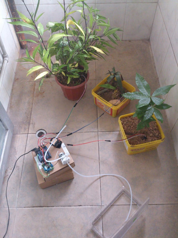 Arduino Automatic Watering System for Plants Sprinkler