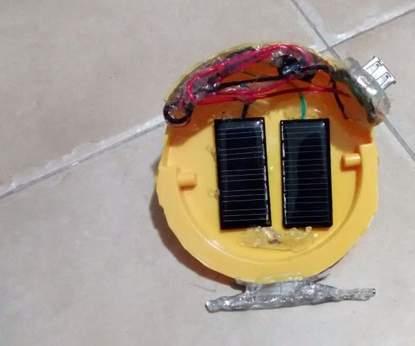 Solar USB Charger From Computer UPS