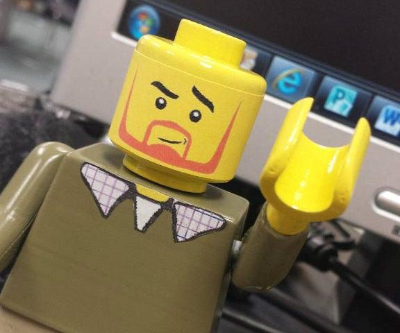 3d Printed Lego Guy / Finishing PLA