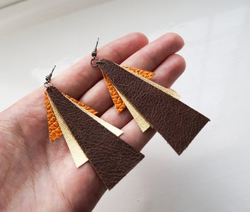 DIY Leather Jewellery   3 Simple Earring Designs to Make
