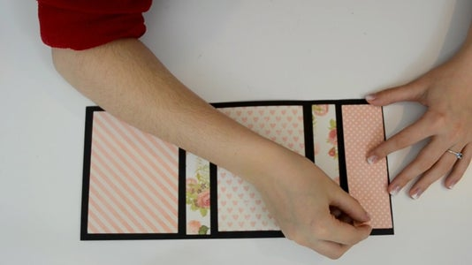 Making the Base: Add the Decorative Paper