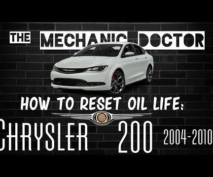 How to Reset Oil Life: Chrysler 200 2015-2016