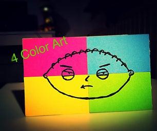 4 Color Cardboard Art - Stewie Griffin