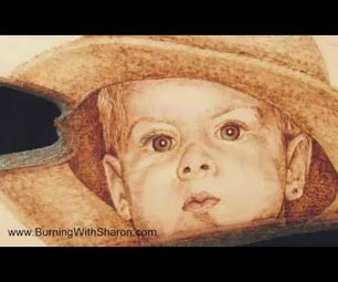 Pyrography: Shading a Portrait an Alternate Technique