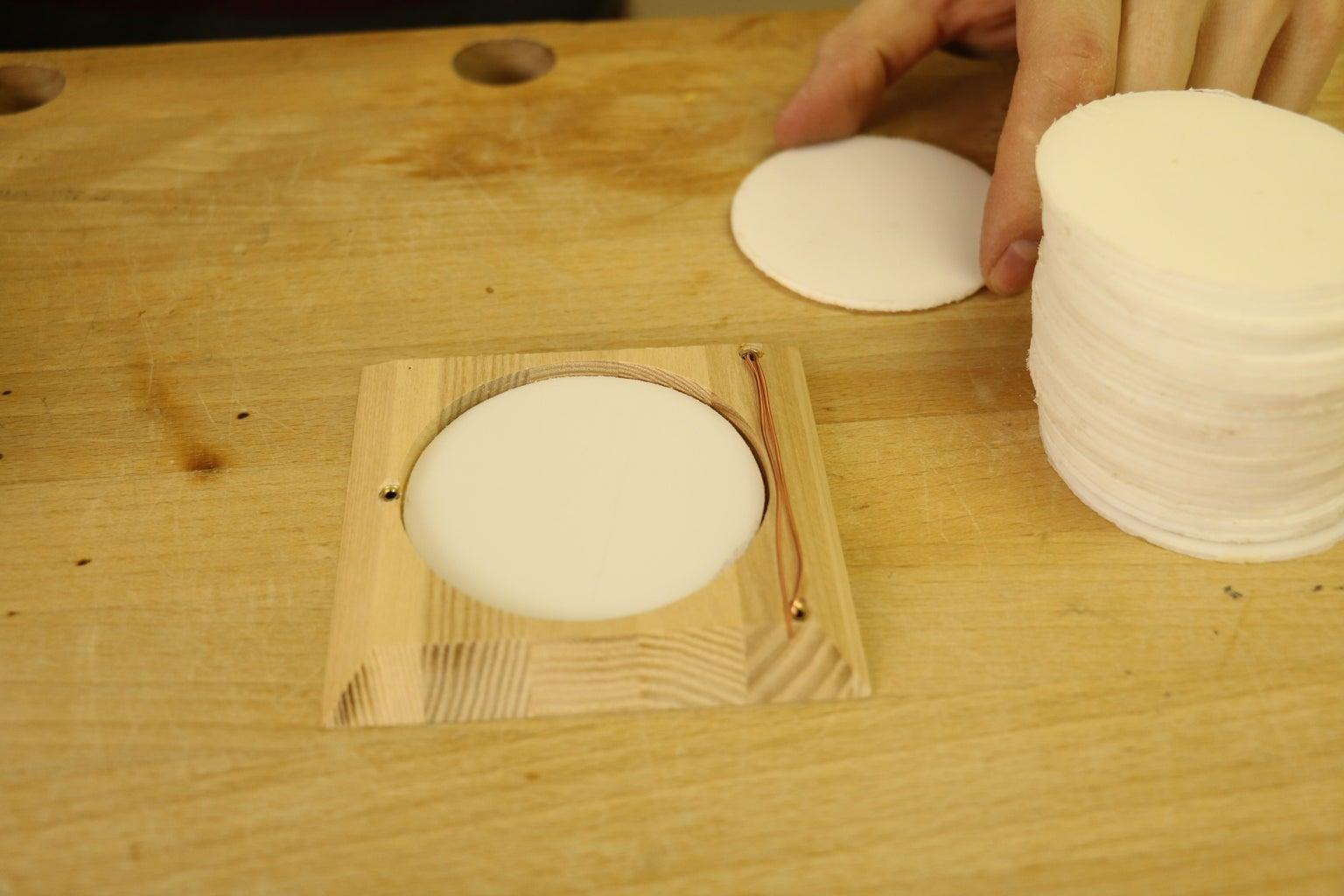 Acrylic Circle Drilling, Sanding & Insertion