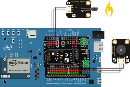Intel Edison - FlameFire Alarm