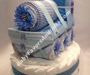 Train Baby Shower Diaper Cake Ideas