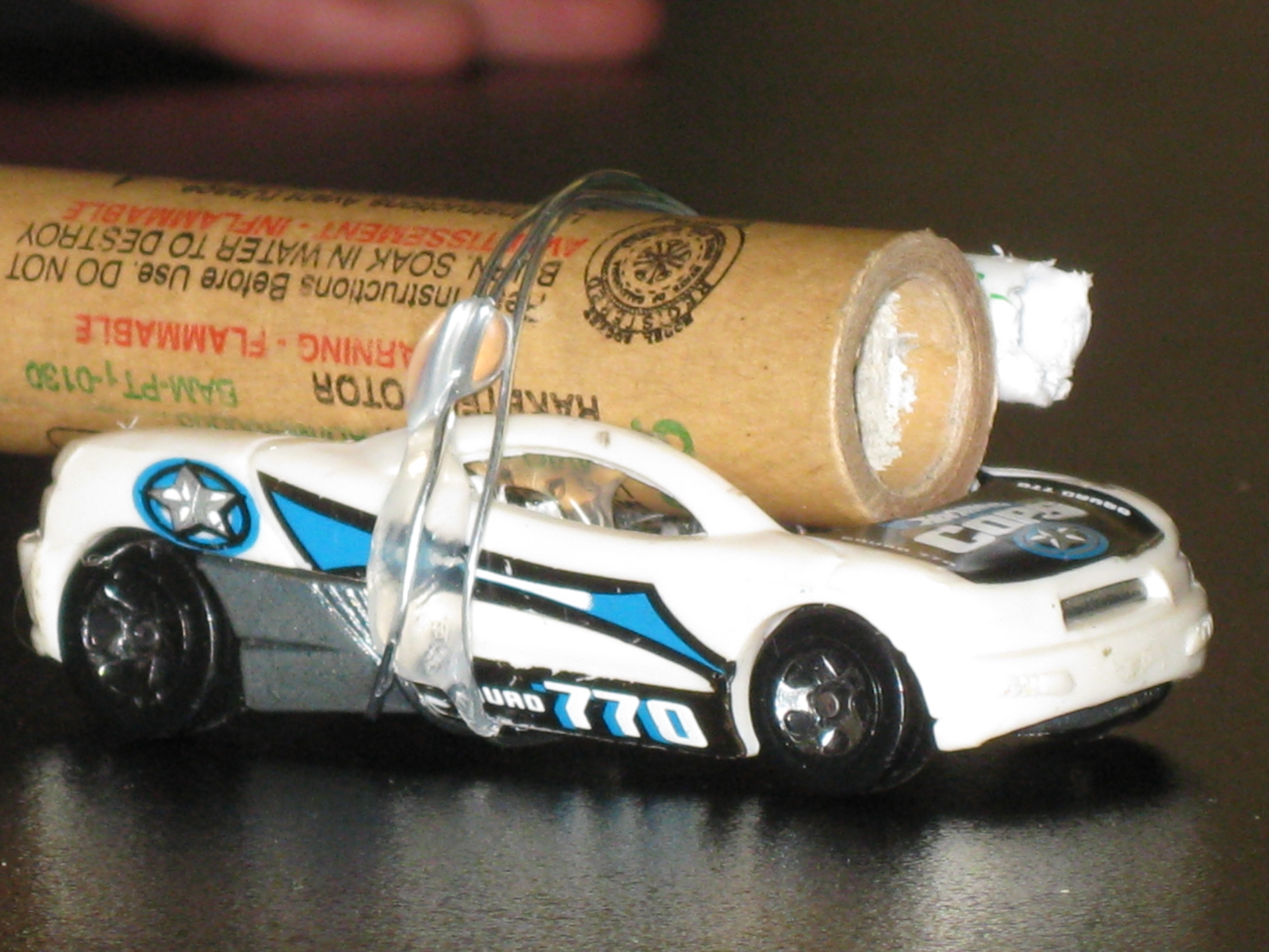 Fire a Hotwheels car with a Rocket and Measure Velocity.