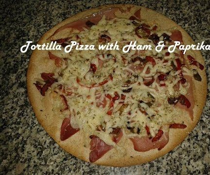 Tortilla Pizza With Ham & Paprika Recipe