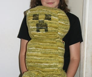 Knitted Minecraft Creeper