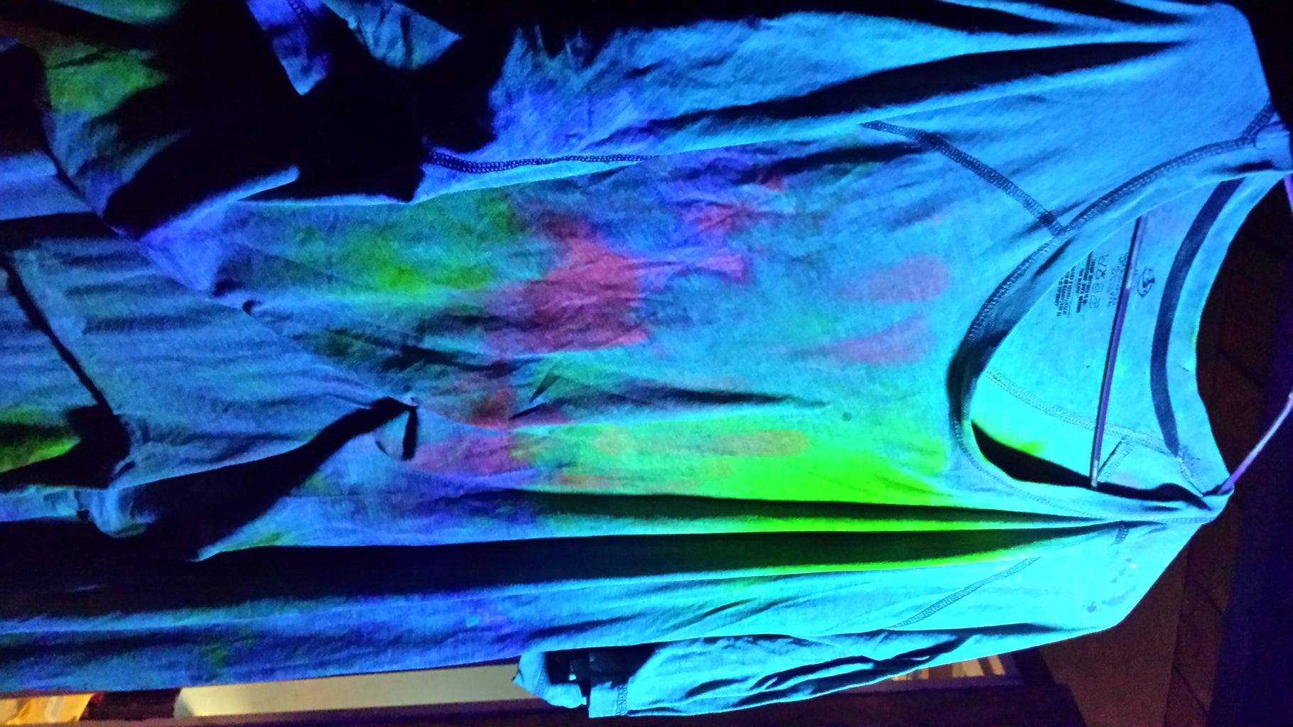 Shirt Stained in Pigments.  (Before Discovering Shaving Cream),