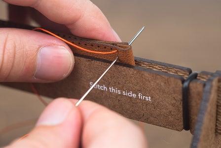 Bottom Band - Stitching the Stop