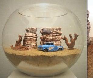 How to Make Desert Landscape Diorama / Desert Terrarium