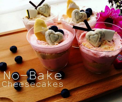 No-Bake Valentine's Day Cheesecakes