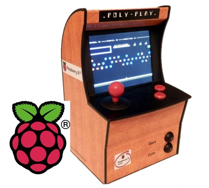 Raspberry Pi-based mini arcade cabinet